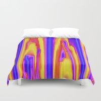 tie dye Duvet Covers featuring Tie Dye Sky by Vikki Salmela