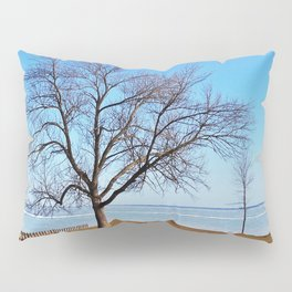The Tree by the Frozen Lake Pillow Sham