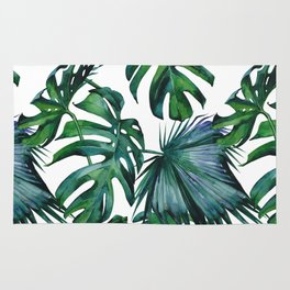 Tropical Palm Leaves Classic Rug