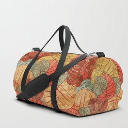 Leaves in Rosy Background 4 Duffle Bag