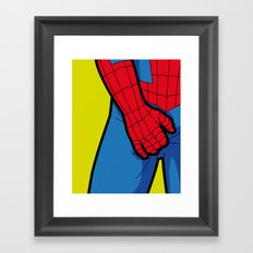The secret life of heroes - SpiderItch Framed Art Print