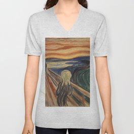 Edward Munch / The Scream Unisex V-Neck