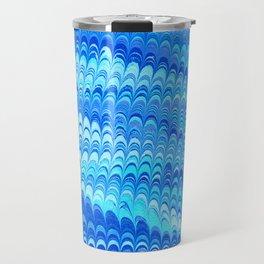 Marbled Non-pareil Blue Travel Mug
