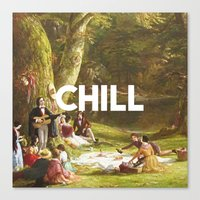chill Canvas Prints featuring Chill by eARTh