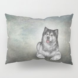 Drawing Dog Alaskan Malamute 11 Pillow Sham