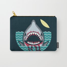 Dark night at the sea - wild shark appear Carry-All Pouch