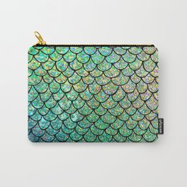 Colorful Glitter Mermaid Scales II Carry-All Pouch