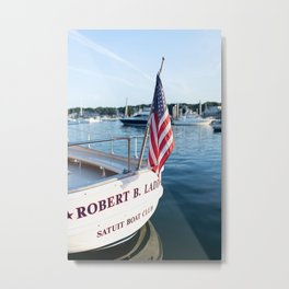 The Launch at the Boat Club Metal Print