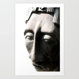 pacal bust one Art Print