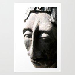 pacal bust one Art Print