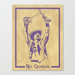 NO QUARTER Canvas Print