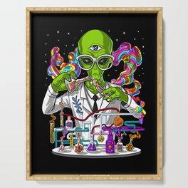 Alien Psychedelic Scientist Serving Tray