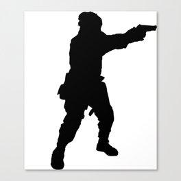 black army Canvas Print