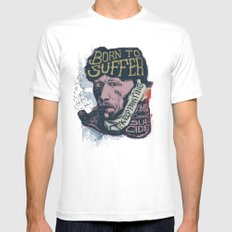 Van Gogh Typography Drawing MEDIUM White Mens Fitted Tee