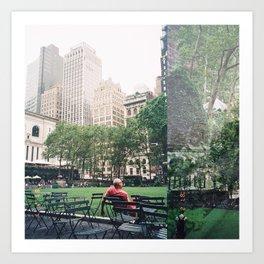 BRYANT PARK , NEW YORK Art Print