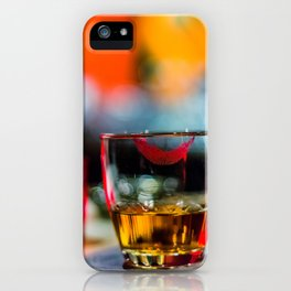 Lipstick Whiskey Neat iPhone Case
