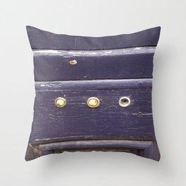 Old purple door Throw Pillow