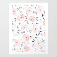 pink watercolors Art Print