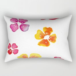 framed pink and yellow flowers Rectangular Pillow