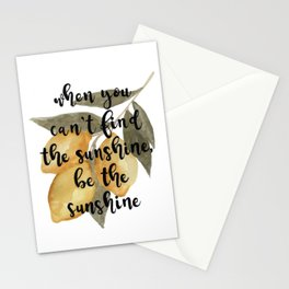 Lemon Watercolor, When You Can't Find Sunshine, Be the Sunshine Stationery Cards