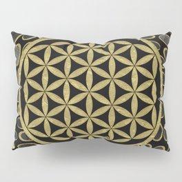 Flower Of Life (Golden Dots) Pillow Sham
