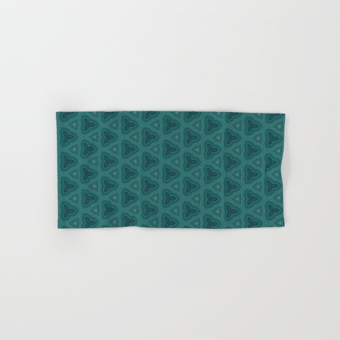 Dark Teal Textured Pattern Design Hand Bath Towel