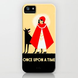Little Red Riding Hood And The Big Bad Wolf - Classic Fairy Tale Poster iPhone Case