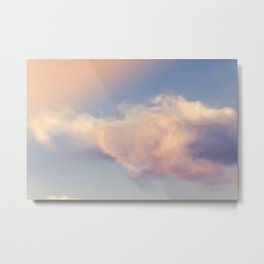 Cotton Candy Clouds Lensbaby Metal Print