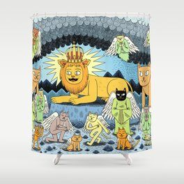 Rebirth of the King Shower Curtain