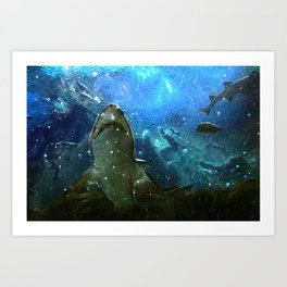 The Great White Marine Lava Lamp Art Print
