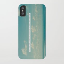 Love is the shortest distance between two hearts. iPhone Case