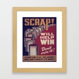 Vintage poster - Scrap metal Framed Art Print