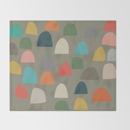 Modern Gumdrops Throw Blanket