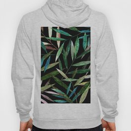 Color Bamboo Leaves at Night Hoody