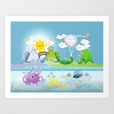 Happy land Art Print