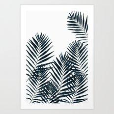 Fern Black Art Print
