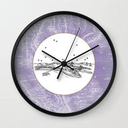 Pattaya City, Thailand City Skyline Illustration Drawing Wall Clock