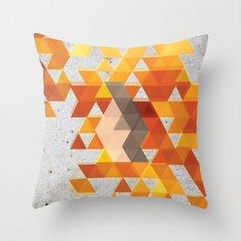 Geometric Penguin Throw Pillow