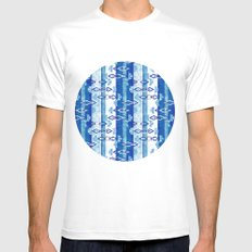 Ethnic pattern Mens Fitted Tee White MEDIUM