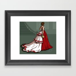 Red Gown Framed Art Print