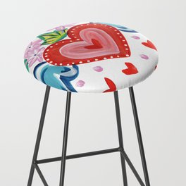 Valentine Heart with Wings Bar Stool