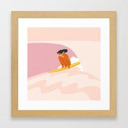 Down the hill Framed Art Print