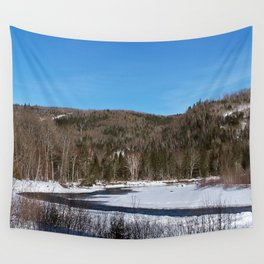 Winding River in Winter Wall Tapestry