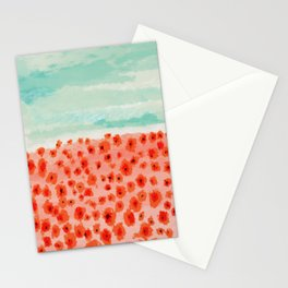 Poppies Field Stationery Cards