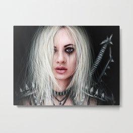 Sword In the Dark: A Gothic Warrior Metal Print