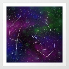Galaxy Constellation Art Print