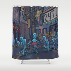 Number City Shower Curtain