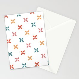 Geometric square flower pattern Stationery Cards