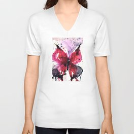 Butterfly Delight No. 5 Unisex V-Neck