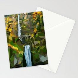 Geometric Multnomah Falls  Stationery Cards